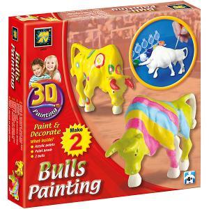 Набор для творчества AMAV «Разрисуй буйволов 3D» Diamant