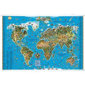 Карта Мира для детей на рейках Издательство Ди Эм Би