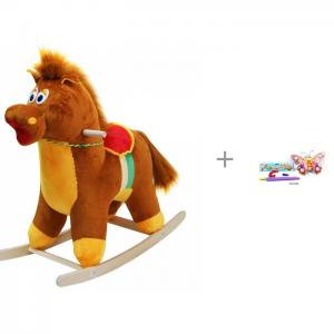 Качалка  Лошадь 281-2008 и каталка-игрушка Shantou Gepai Бабочка на палочке Тутси