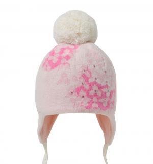 Шапка  Флориана, цвет: белый/розовый Artel
