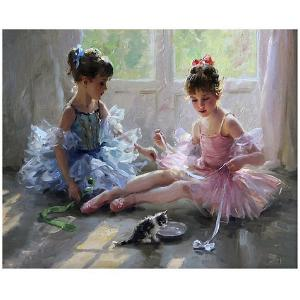 Картина по номерам  Разумов К. Две балерины Molly. Цвет: разноцветный