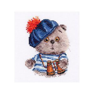 Набор для вышивания  Басик моряк 10х12 см Алиса