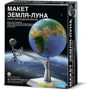 Набор для сборки и раскрашивания  KidzLabs Макет Земля-Луна 4M