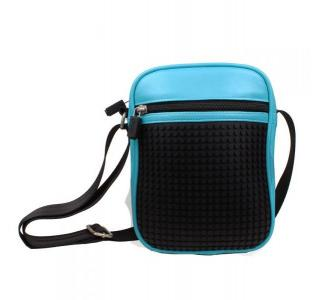 Сумка наплечная  WY-A018 голубой 20х15х6 см Upixel