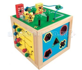 Деревянная игрушка  многофункциональный куб 84185 Bino