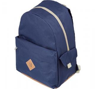 Рюкзак молодежный  синий с кож.замом №1 School