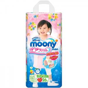 Трусики  для девочек (13-25 кг) 26 шт. Moony