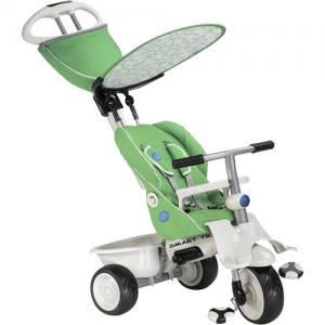 Детский трехколесный велосипед с ручкой  Stoller, цвет: зеленый Smart Trike