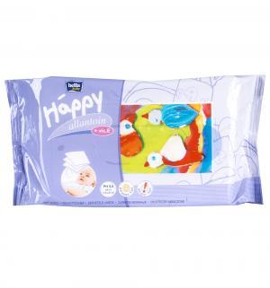Влажные салфетки  baby Happy с витамином Е и аллантоином, 64 шт Bella