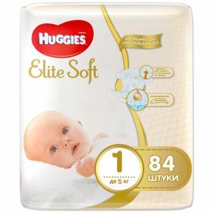 Подгузники  Elite Soft 1 (0-5 кг) 84 шт. Huggies
