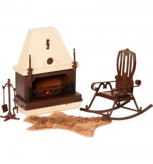 Набор мебели для кукол  Коллекция каминной комнаты Огонек