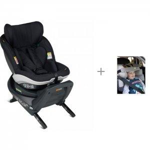 Автокресло  iZi Turn i-Size Fresh Black Cab и фиксатор головы ребенка Клювонос Путешествие BeSafe