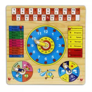 Деревянная игрушка  развивающая Календарь Фабрика фантазий