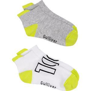 Укороченные носки , 2 пары Gulliver. Цвет: серый
