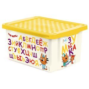 Ящик для хранения  Три кота, цвет: желтый Little Angel