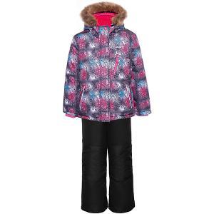 Комплект (куртка, полукомбинезон) GUSTI. Цвет: черный