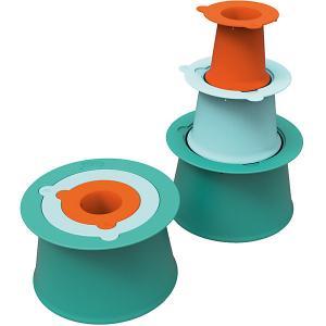 Формы для песка  Alto, 3 шт, зелёная, синяя, оранжевая Quut