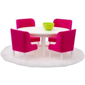Мебель для домика  Смоланд Обеденная группа в малиновых тонах Lundby. Цвет: разноцветный