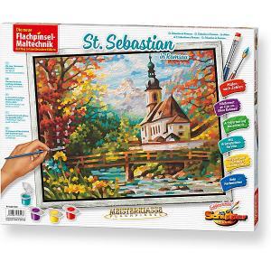 Картина по номерам  Церковь св. Себастьяна в Рамзау, 40х50 см Schipper. Цвет: разноцветный
