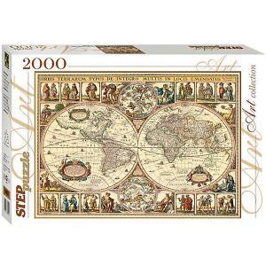 Мозаика puzzle 2000 Историческая карта мира Степ Пазл