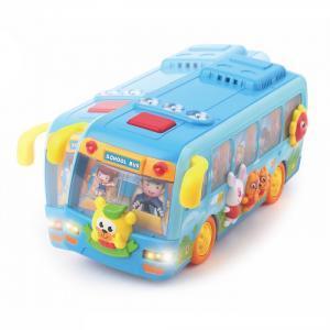 Развивающая игрушка  Школьный автобус с логикой (музыка, свет) Huile Toys