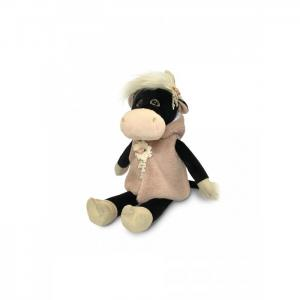 Мягкая игрушка  Коровка Даша в меховой накидке 23 см Maxitoys