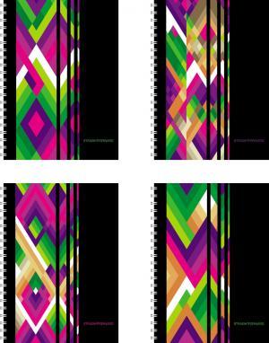 Тетрадь А5 120 листов клетка  Диагонали Полиграфика
