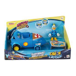 Игровой набор  Микки и весёлые гонки Автомобиль Дональда Дака, 2 в 1 IMC Toys. Цвет: синий