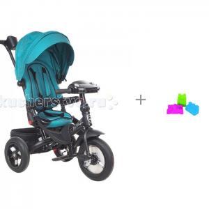 Велосипед трехколесный  Mini Trike T400 Jeans и набор формочек Нордпласт Крепость Mars