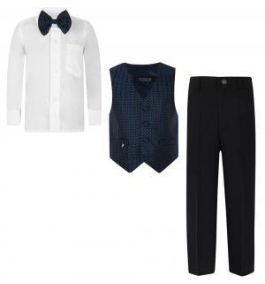 Комплект брюки/жилет/рубашка/бабочка , цвет: синий Rodeng