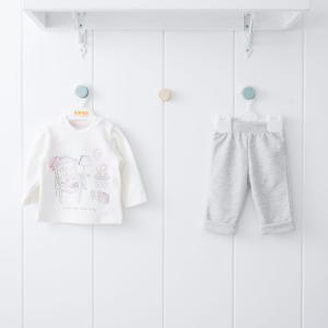 Комплект джемпер/брюки , цвет: розовый Kidaxi