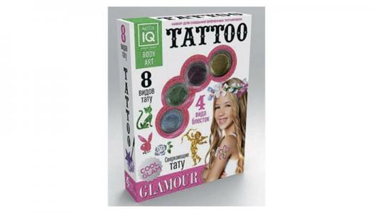 Игровой набор для временных татуировок Glamour Каррас