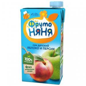 Восстановленный сок  яблоко-персик, 500 мл ФрутоНяня