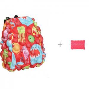 Рюкзак Bubble Full Monsters Under the Red с пеналом-сумочкой Neon Jumbo Pouch MadPax