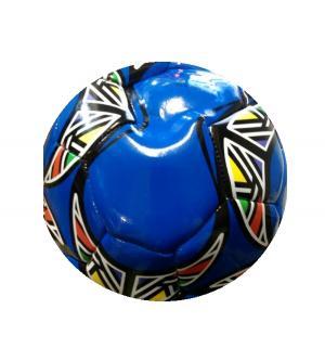 Мяч  футбольный, цвет: синий 22 см FunMax