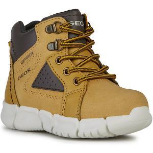 Утеплённые ботинки Geox. Цвет: желтый