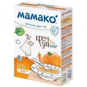 Суп-крем  На козьем молоке тыквенный, 150 г Мамако