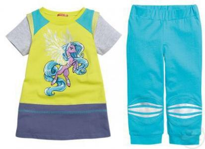 Комплект платье/брюки , цвет: желтый Pelican