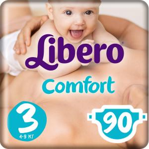 Подгузники  Comfort Midi 3 (4-9 кг) 90 шт. Libero