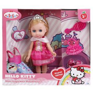 , Кукла Hello Kitty Машенька с комплектом одежды и аксесс, 15см Карапуз