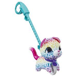 Мягкая игрушка FurReal Friends Маленький питомец на поводке Котенок Hasbro. Цвет: разноцветный