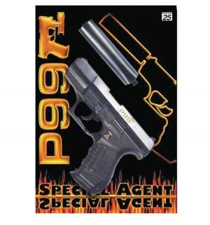 Пистолет  Специальный Агент Р99 с глушителем Sohni-Wicke