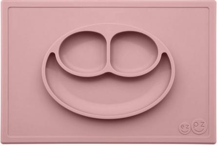 Низкая тарелка с разделителями на прямоугольном подносе Happy Mat 540 мл Ezpz