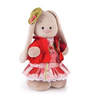 Мягкая игрушка  Зайка Ми Маково-красный 32 см Budi Basa