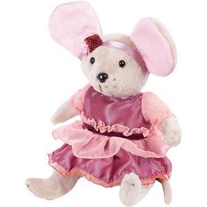 Мягкая игрушка  Мышка шарнирная Вишенка в малиновом платье, 25 см Angel Collection. Цвет: разноцветный