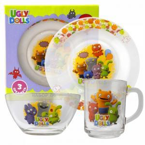 ND Play Набор стеклянной посуды Куклы Дизайн 2 (3 предмета)