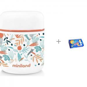 Термос  Mediterranean Mini для еды с сумкой 280 мл и Мыло Свобода Тик-так 150 г Miniland
