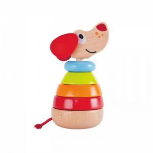 Деревянная игрушка  Звуковая пирамидка Собака Hape