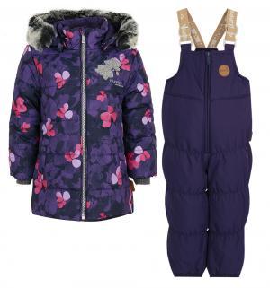 Комплект куртка/полукомбинезон  Novalla, цвет: фиолетовый Huppa