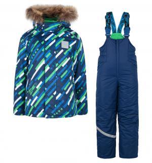 Комплект куртка/полукомбинезон  Космос, цвет: синий/зеленый Stella